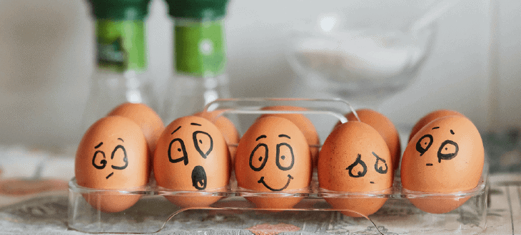 Dairy Eggs with Facial Expressions