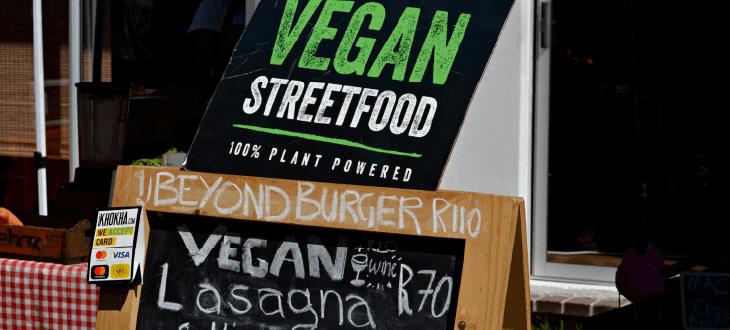 Vegan Street Food Signs